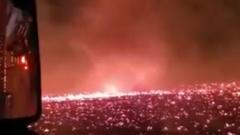 Пожарные сняли эпичное видео огненного смерча над горящими лесами Калифорнии