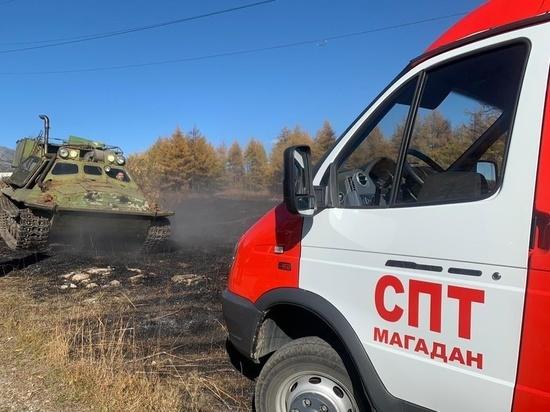 На Колыме второй день подряд пытаются спасти поселок от пожара
