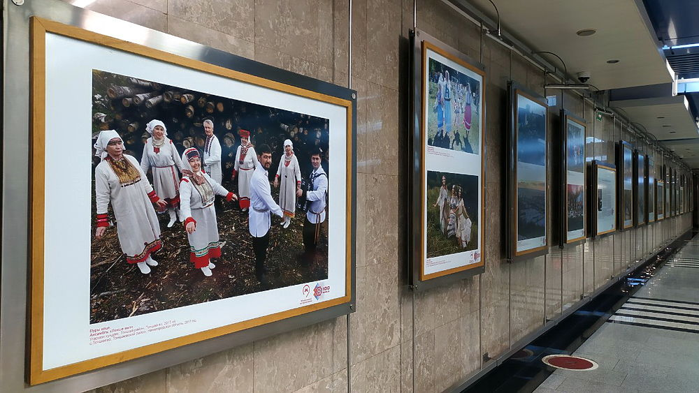 В московском метро открылась фотовыставка к 100-летию Марий Эл