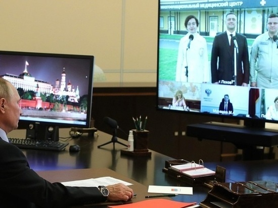 Псковский губернатор президенту: Новые больницы готовы, штат укомплектован