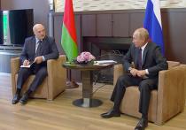 На встрече Владимира Путина и белорусского лидера Александра Лукашенко в Сочи президент РФ пообещал выделить Белоруссии кредит в размере полутора миллиардов долларов