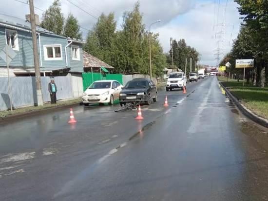 В Йошкар-Оле велосипедист попал под колеса автомобиля