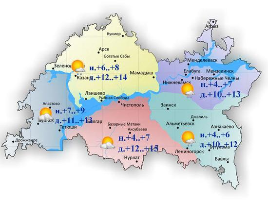 В Татарстане сохранится дождливая погода