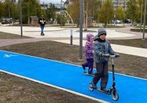 В Сквере геологов Ноябрьска появились велодорожки
