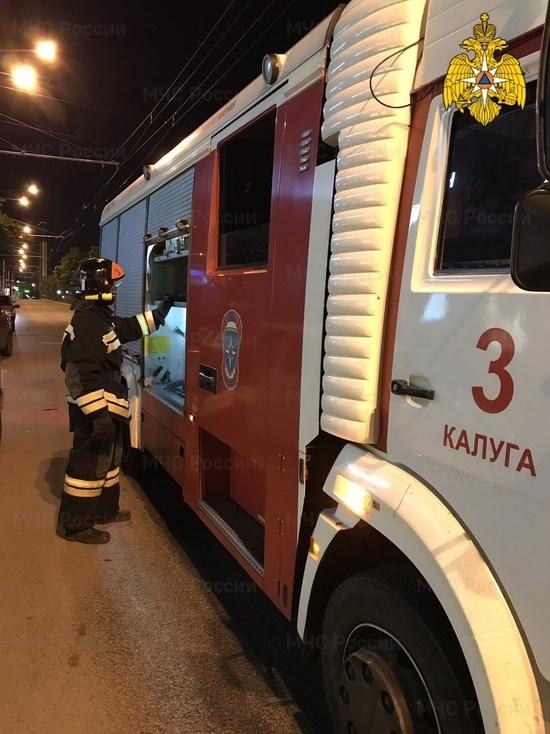 В центре Калуги произошел пожар жилого дома