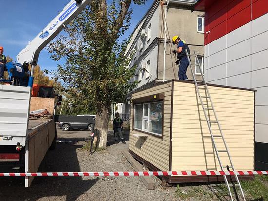 Массовая ликвидация незаконных ларьков продолжается в Кемерове