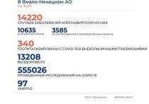 На Ямале коронавирус диагностировали еще у 58 человек