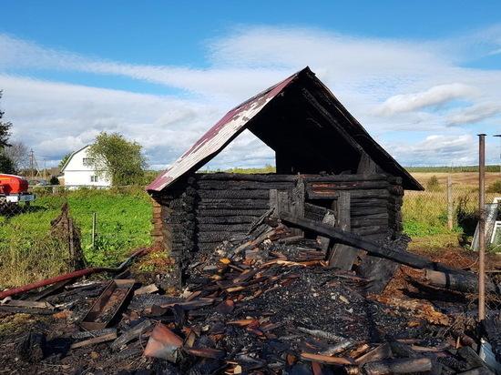 Смоленские пожарные дважды за сутки тушили дачные дома