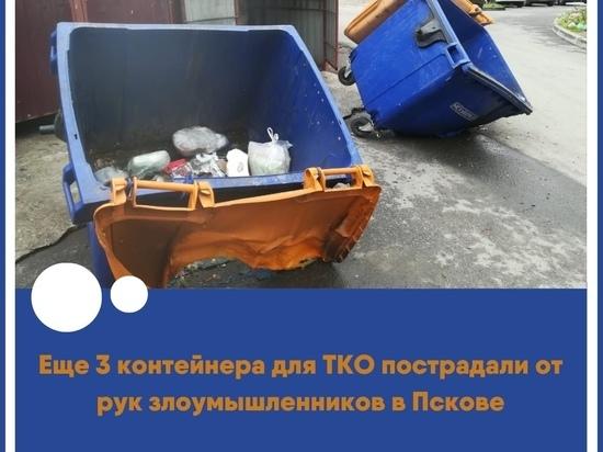 В Пскове поджигают мусорные баки