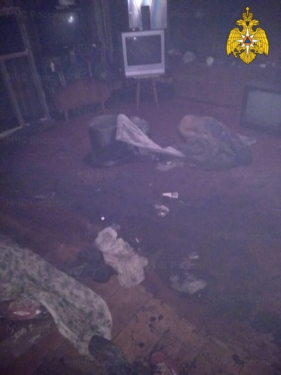 В жилом доме под Калугой сгорела квартира