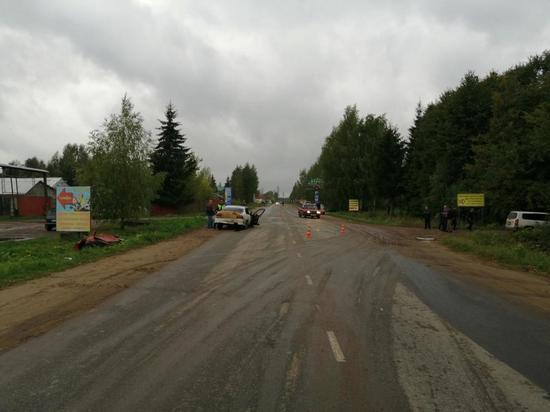 В Тверской области взрослый водитель забыл правила и попал в ДТП