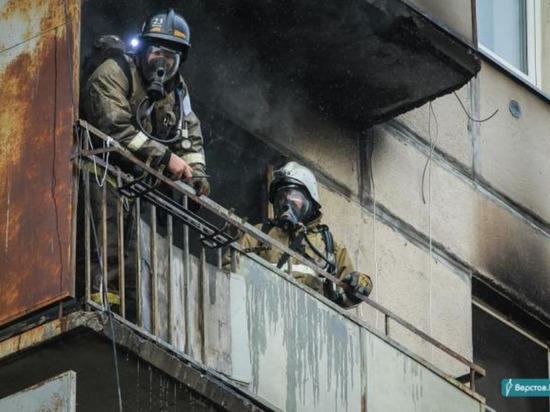 При пожаре в многоэтажном доме пострадал 57-летний таганрожец