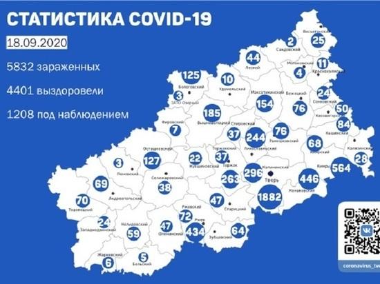 17 сентября почти половина зараженных коронавирусом были обнаружены в Твери