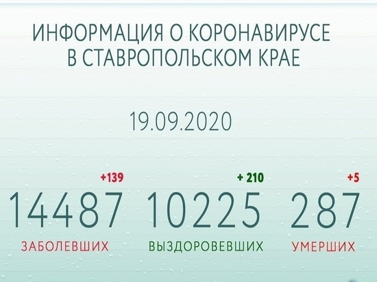 На Ставрополье за сутки от COVID-19 выздоровели более 200 человек