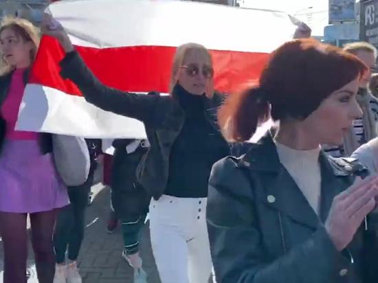 В Минске начался субботний женский марш