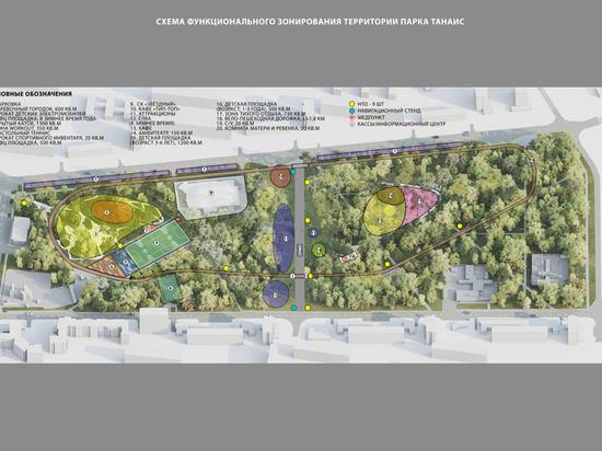 Решение в ближайшие годы дать «Танаису» вторую жизнь принял мэр Воронежа Вадим Кстенин, который на межведомственном выездном совещании в парке рассмотрел предлагаемую городскими архитекторами концепцию, а также варианты финансирования реконструкции
