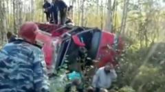 В Хабаровском крае рейсовый автобус опрокинулся в канаву