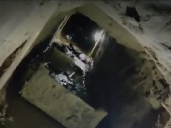 Опубликовано видео тоннеля, который прорыли сбежавшие из колонии в Дагестане осужденные