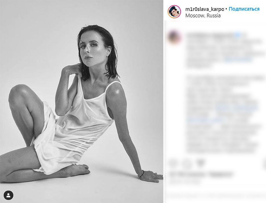 Мирослава Карпович порадовала поклонников фотосессией в мокром платье