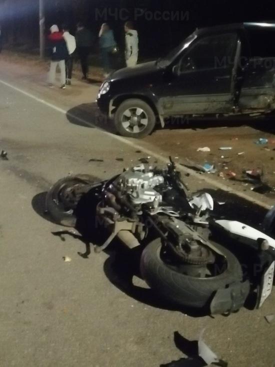 Два человека насмерть разбились на мотоцикле под Калугой