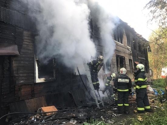 Большой пожар в Пестяковском районе тушили почти полчаса