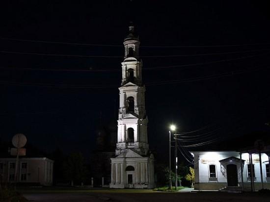 В Юрьевце подсветили колокольню