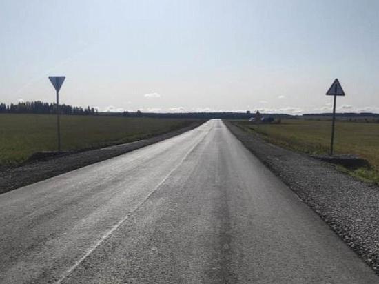 В Удмуртии отремонтировали участок дороги между Дебесами и Уйваем
