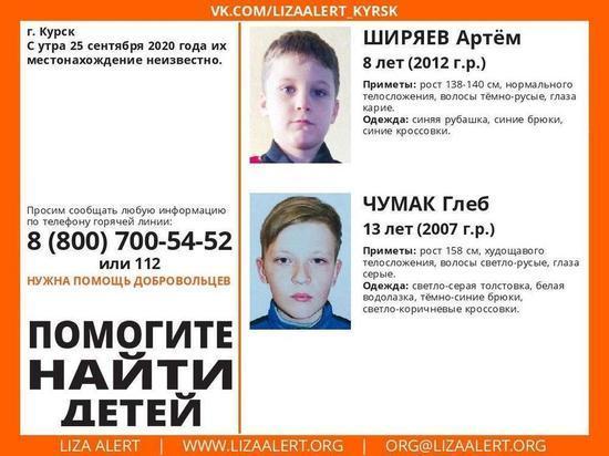 В Курске ищут пропавших 25 сентября несовершеннолетних мальчиков