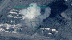 Минобороны Азербайджана показало кадры обстрела позиций ПВО в Карабахе