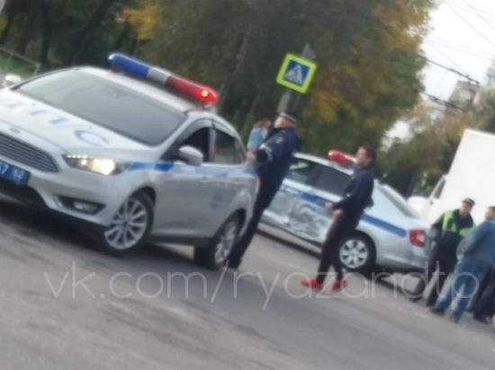 В Рязани в аварию попала патрульная машина ДПС