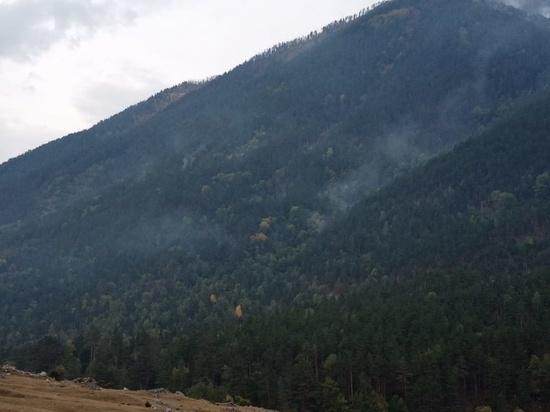 Лесной пожар ликвидировали в Карачаево-Черкесии
