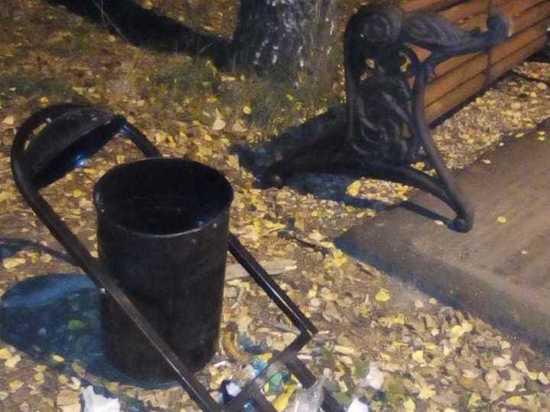 Подростки разгромили парк имени Гагарина в Рязани