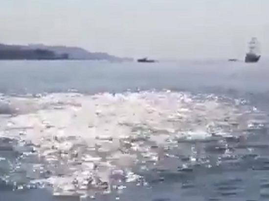В Instagram появилось видео, как в Черном около берега Сочи начала бурлить вода