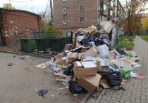 В Ленинском районе во дворе дома №6/1, расположенного по улице Карла Маркса ежедневно образуется стихийная свалка