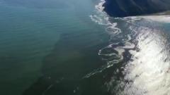 Загрязнение океана на Камчатке показали с воздуха