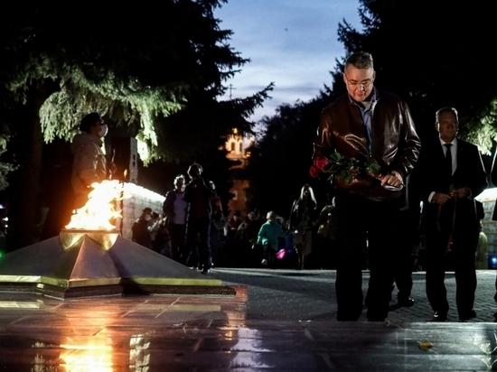 На Ставрополье зажгли Вечный огонь на обновленном мемориале