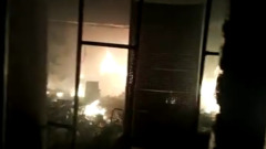 Опубликовано видео артобстрела карабахского Степанакерта: здания в огне