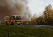 Из-за пожара на рязанском складе боеприпасов перекрыли участок М-6