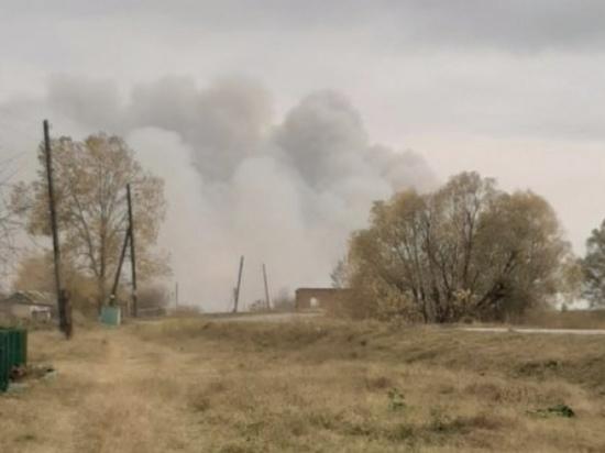 Греков прибыл на место тушения пожара на военном складе