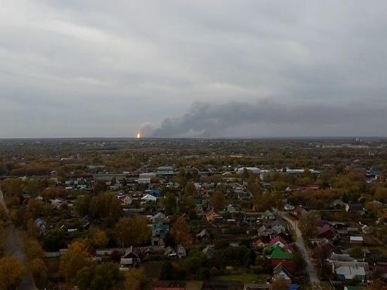 Под Рязанью эвакуируют более десятка поселков из-за ЧП на военном складе