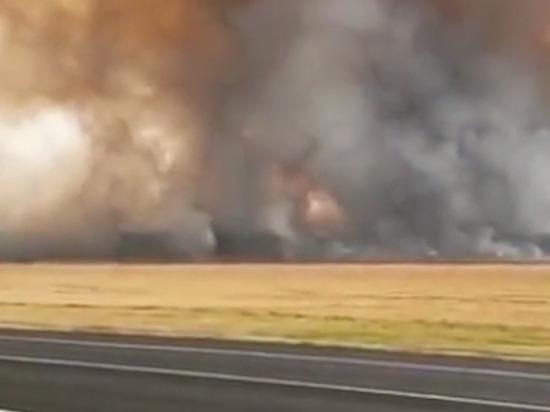 Беспилотники будут наблюдать за горящими складами боеприпасов под Рязанью