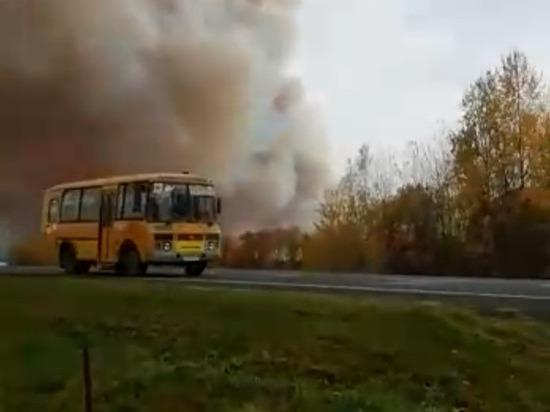 Работает горячая линия из-за пожара на рязанском складе боеприпасов