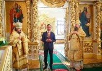 Глава Якутии поучаствовал в Божественной литургии к 150-летию Якутской епархии