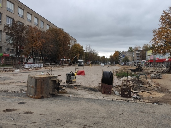 На улице Яна Фабрициуса в Пскове готовятся к укладке асфальта