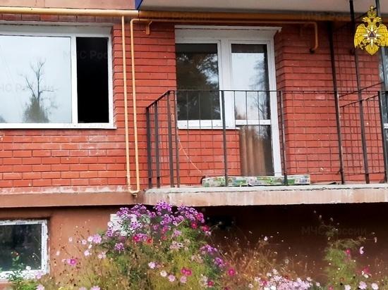 Человек пострадал во время пожара квартиры в Сосенском