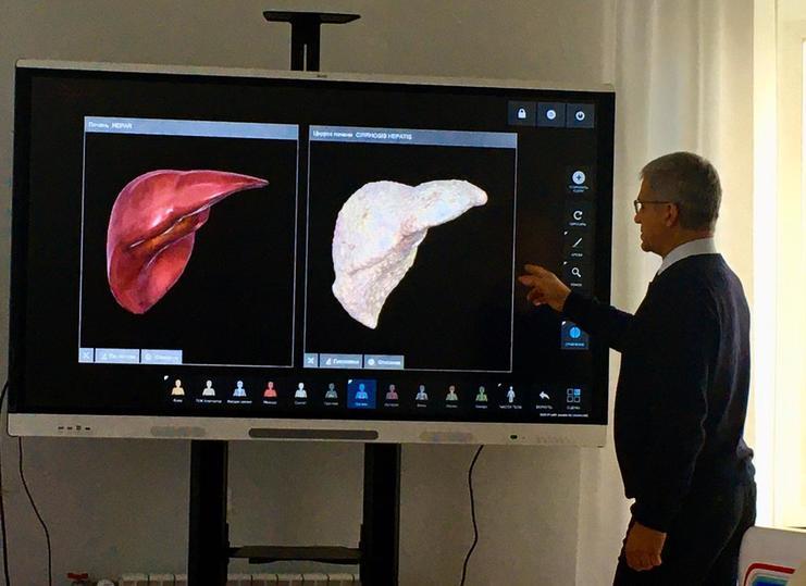 В Екатеринбурге презентуют интерактивный анатомический стол «Пирогов»