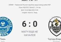 На сайте ПФЛ «предсказали» очередную победу ФК «Тверь»