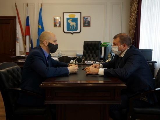 Мэр Йошкар-Олы обсудил ситуацию на водоканале с главой профсоюза