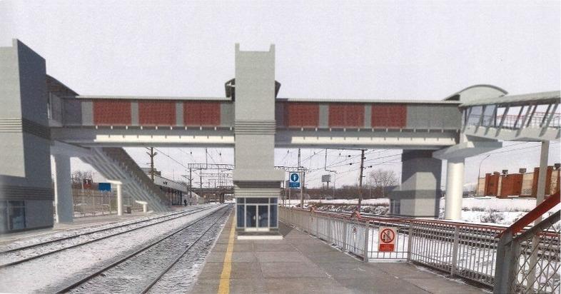 На о.п. ВИЗ в Екатеринбурге построят крытый пешеходный мост