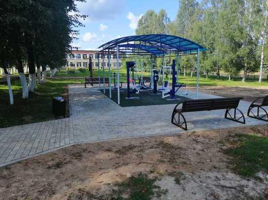 В калужской деревне установили тренажеры за 900 тысяч